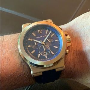 Michael Kors Dylan Rose Gold Chrono Blue silicone